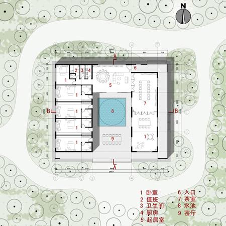 上海青浦茶艺会所建筑设计